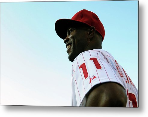Citizens Bank Park Metal Print featuring the photograph Jimmy Rollins by Drew Hallowell