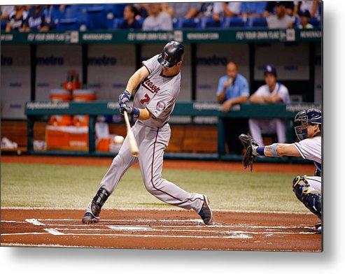 Baseball Catcher Metal Print featuring the photograph Joe Mauer by J. Meric