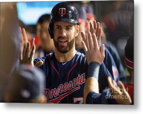 Game Two Metal Print featuring the photograph Joe Mauer by Jason Miller