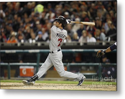 Joe Mauer Metal Print featuring the photograph Joe Mauer by Joe Robbins