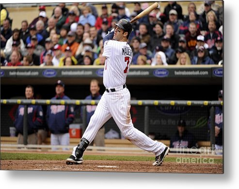 Joe Mauer Metal Print featuring the photograph Joe Mauer by Ron Vesely