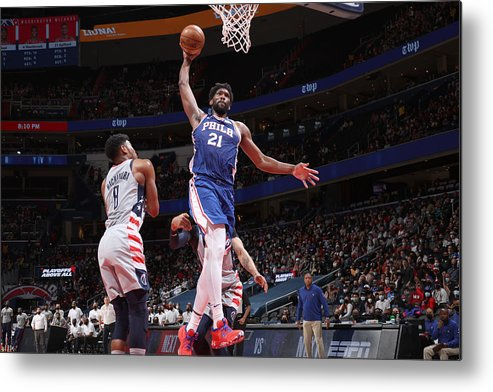 Playoffs Metal Print featuring the photograph Joel Embiid by Stephen Gosling