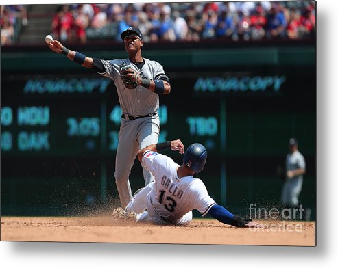 People Metal Print featuring the photograph Joey Gallo and Starlin Castro by Richard Rodriguez