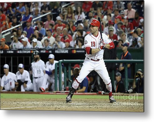 People Metal Print featuring the photograph Joey Votto by Rob Carr