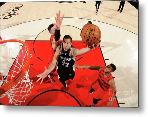 Nba Pro Basketball Metal Print featuring the photograph Joffrey Lauvergne by Cameron Browne
