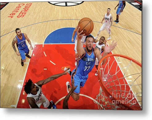 Nba Pro Basketball Metal Print featuring the photograph Joffrey Lauvergne by Juan Ocampo