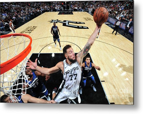 Nba Pro Basketball Metal Print featuring the photograph Joffrey Lauvergne by Mark Sobhani