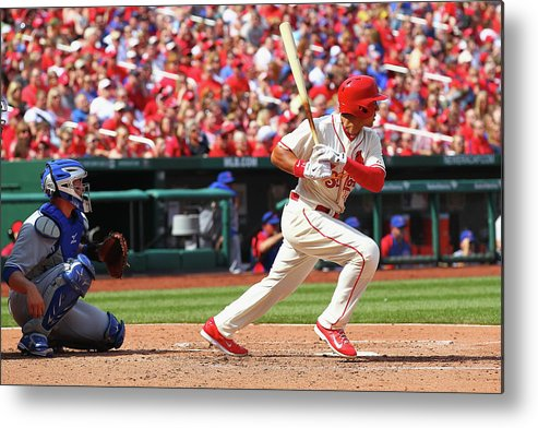 St. Louis Cardinals Metal Print featuring the photograph Jon Jay by Dilip Vishwanat