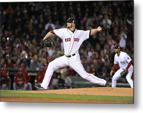 Playoffs Metal Print featuring the photograph Jon Lester by Ron Vesely