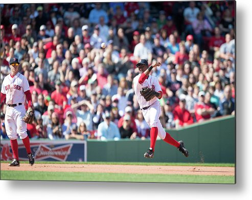East Metal Print featuring the photograph Jonathan Herrera and Xander Bogaerts by Rob Tringali