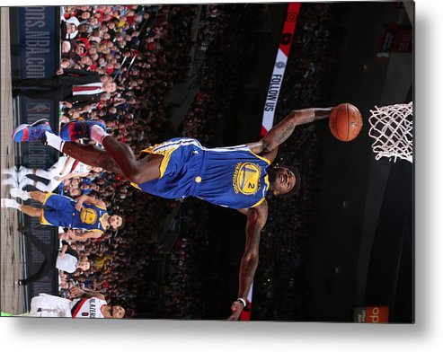 Playoffs Metal Print featuring the photograph Jordan Bell by Sam Forencich