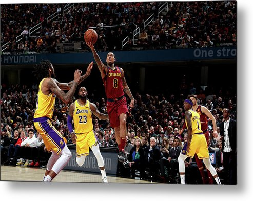 Nba Pro Basketball Metal Print featuring the photograph Jordan Clarkson by Nathaniel S. Butler