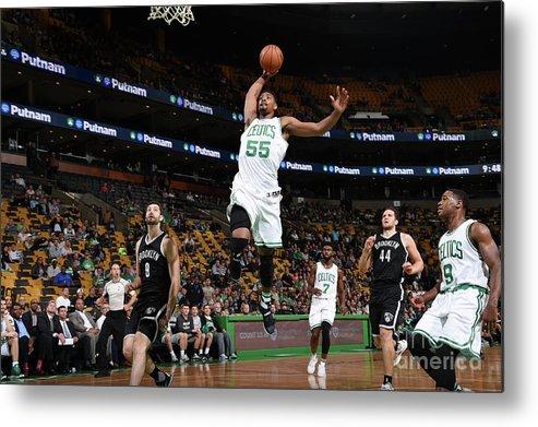 Nba Pro Basketball Metal Print featuring the photograph Jordan Mickey by Brian Babineau
