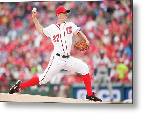 Baseball Pitcher Metal Print featuring the photograph Jordan Zimmermann by Mitchell Layton