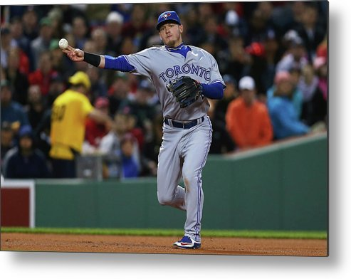 American League Baseball Metal Print featuring the photograph Josh Donaldson by Maddie Meyer