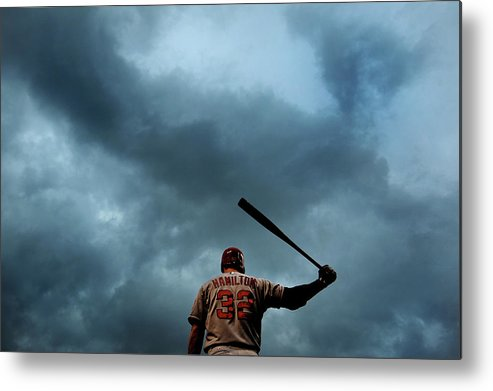 American League Baseball Metal Print featuring the photograph Josh Hamilton by Patrick Smith