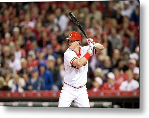 Great American Ball Park Metal Print featuring the photograph Josh Harrison and Jay Bruce by Taylor Baucom