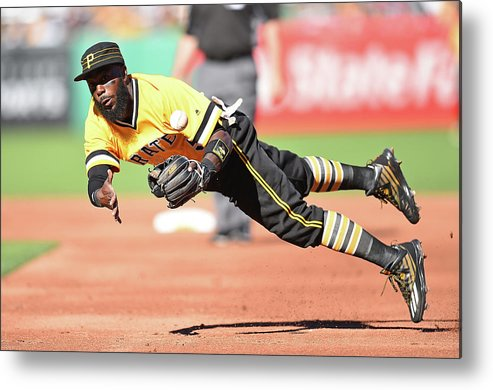 American League Baseball Metal Print featuring the photograph Josh Harrison by Joe Sargent