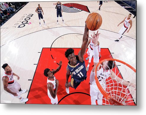 Playoffs Metal Print featuring the photograph Jrue Holiday by Sam Forencich