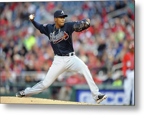 Julio Teheran Metal Print featuring the photograph Julio Teheran by Mitchell Layton