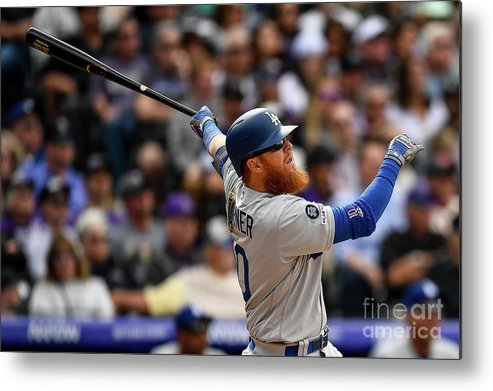 People Metal Print featuring the photograph Justin Turner by Dustin Bradford
