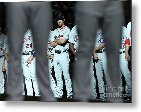 American League Baseball Metal Print featuring the photograph Justin Verlander by Christian Petersen