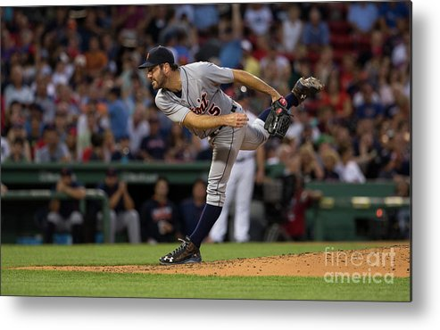 People Metal Print featuring the photograph Justin Verlander by Rich Gagnon