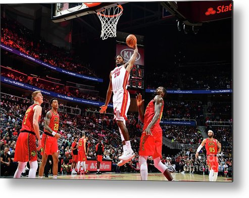 Atlanta Metal Print featuring the photograph Justise Winslow by Scott Cunningham