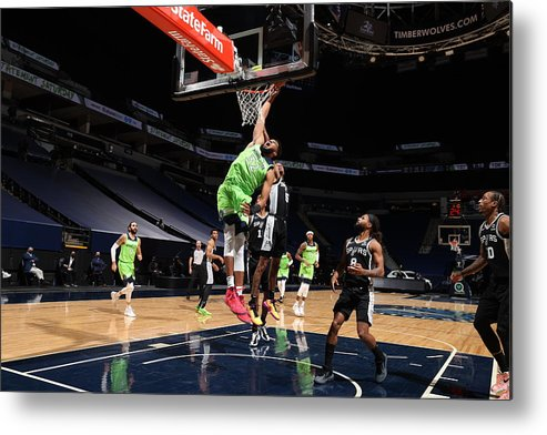 Nba Pro Basketball Metal Print featuring the photograph Karl-anthony Towns by David Sherman