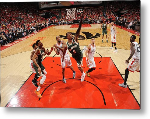 Playoffs Metal Print featuring the photograph Kawhi Leonard and Eric Bledsoe by Ron Turenne