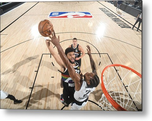 Playoffs Metal Print featuring the photograph Kawhi Leonard and Jamal Murray by Andrew D. Bernstein