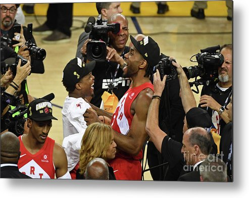 Playoffs Metal Print featuring the photograph Kawhi Leonard and Kyle Lowry by Garrett Ellwood