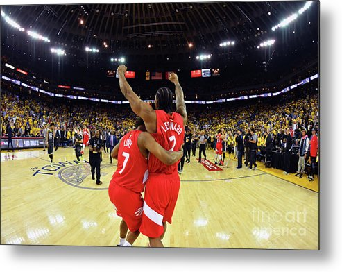 Playoffs Metal Print featuring the photograph Kawhi Leonard and Kyle Lowry by Jesse D. Garrabrant