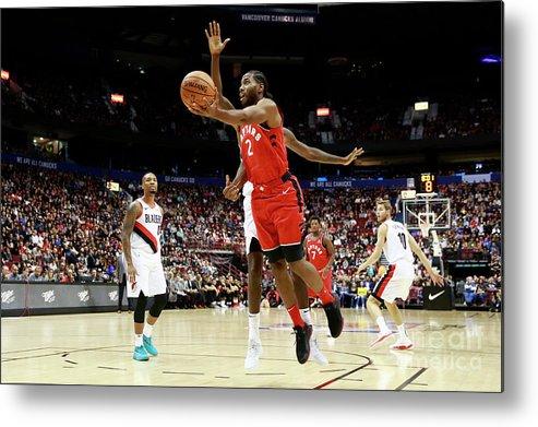 Nba Pro Basketball Metal Print featuring the photograph Kawhi Leonard by Jeff Vinnick