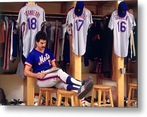 1980-1989 Metal Print featuring the photograph Keith Hernandez by Ronald C. Modra/sports Imagery