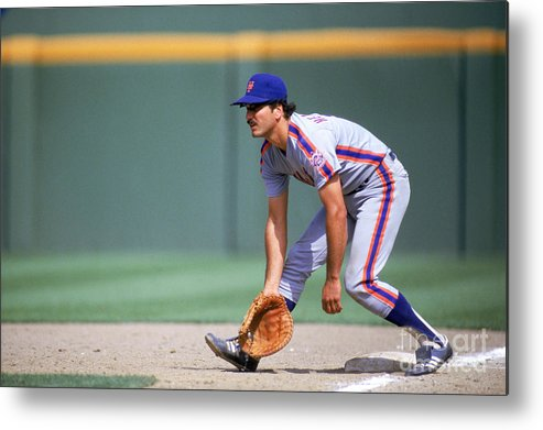 1980-1989 Metal Print featuring the photograph Keith Hernandez by Stephen Dunn