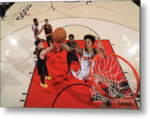 Nba Pro Basketball Metal Print featuring the photograph Kelly Oubre by Cameron Browne