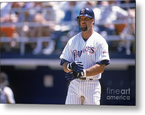 Adjusting Metal Print featuring the photograph Ken Caminiti by Otto Greule Jr