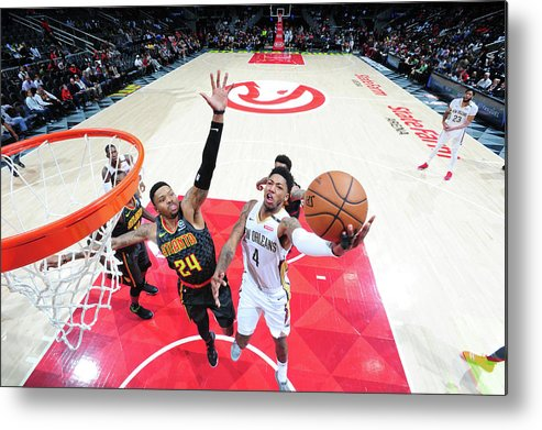 Atlanta Metal Print featuring the photograph Kent Bazemore and Elfrid Payton by Scott Cunningham