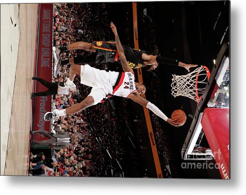 Nba Pro Basketball Metal Print featuring the photograph Kent Bazemore by Cameron Browne