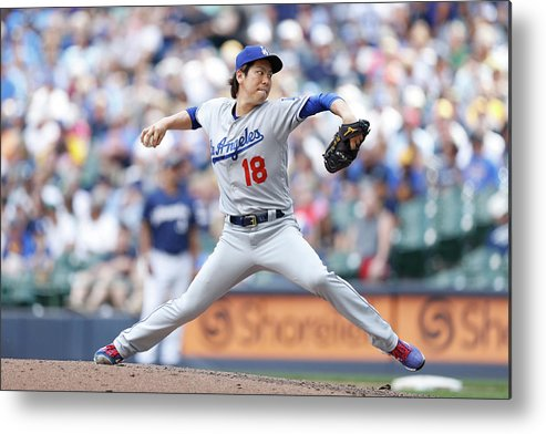 People Metal Print featuring the photograph Kenta Maeda by Joe Robbins