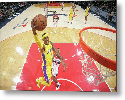 Nba Pro Basketball Metal Print featuring the photograph Kentavious Caldwell-pope by Ned Dishman