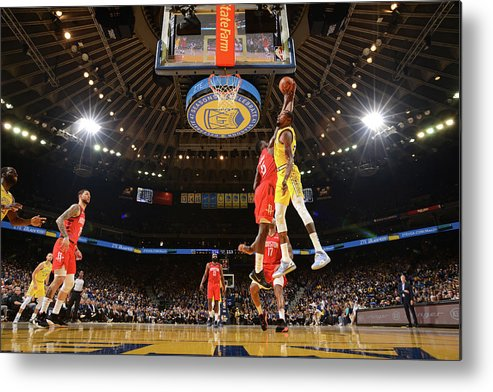 Nba Pro Basketball Metal Print featuring the photograph Kevin Durant and Clint Capela by Noah Graham
