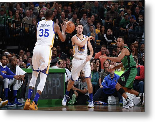 Nba Pro Basketball Metal Print featuring the photograph Kevin Durant and Klay Thompson by Brian Babineau