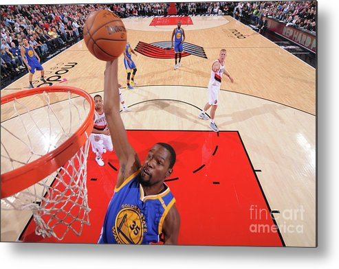 Nba Pro Basketball Metal Print featuring the photograph Kevin Durant by Sam Forencich