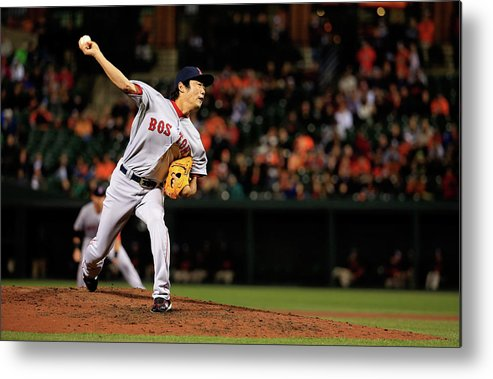 Ninth Inning Metal Print featuring the photograph Koji Uehara by Rob Carr