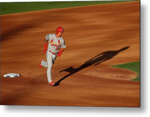 St. Louis Cardinals Metal Print featuring the photograph Kolten Wong by Doug Pensinger