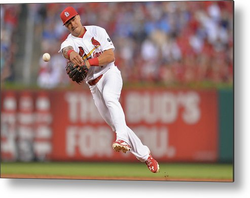 St. Louis Cardinals Metal Print featuring the photograph Kolten Wong by Michael Thomas