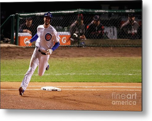 People Metal Print featuring the photograph Kris Bryant by Jamie Squire