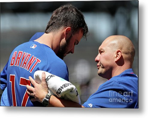 People Metal Print featuring the photograph Kris Bryant by Matthew Stockman